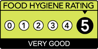 5 food hygiene stars from the food standards agency